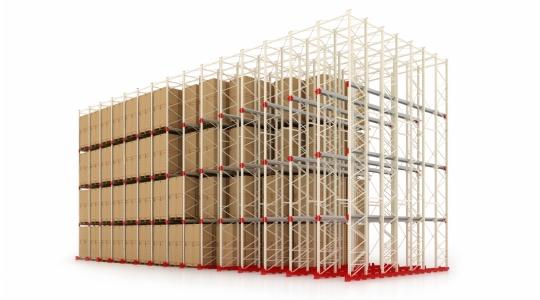 Стандартные стеллажи для складирования