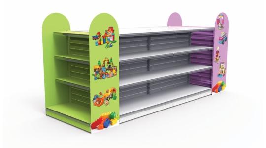 Стеллажи для детских магазинов